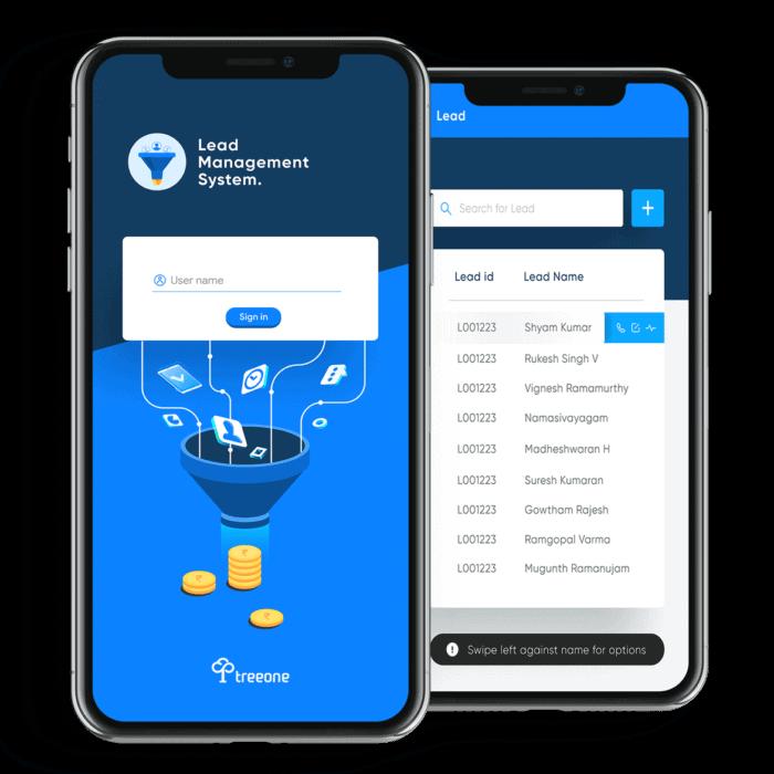 treeone-mobile-app-lead -management