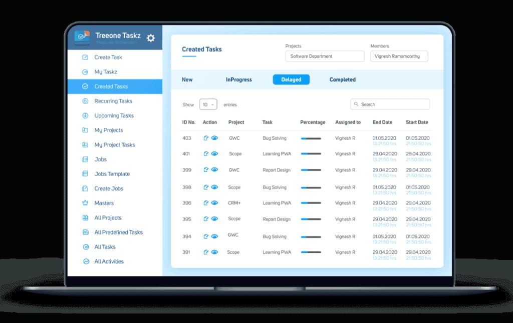 treeone-task-management-software-dashboard