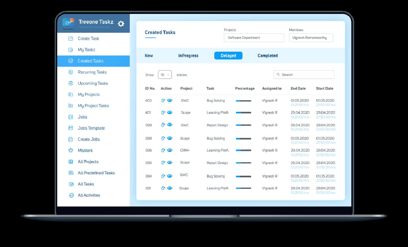 taskz-management-treeone-dashbord